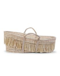Moses Basket + Handles + Mattress - Soft Corn Husk + Raffia - Natural