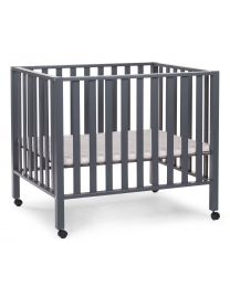 Playpen 94 + Wheels - 75x95 Cm - Wood - Anthracite
