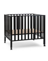 Playpen 94 + Wheels - 75x95 Cm - Wood - Black
