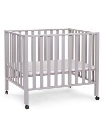 Playpen 94 + Wheels - 75x95 Cm - Wood - Stone Grey