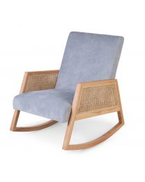 Canné Wood - Adult Rocking Chair - Grey Natural